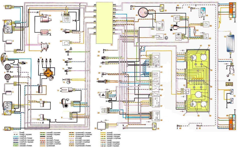Электрическая схема ваз-2107
